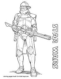Clone Wars Coloring Pages Star Trooper With 7911024 Attachments