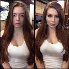 11 18 beautiful models before and after makeup
