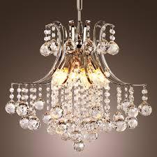 modern crystal chandelier with 6 lights pendant modern ceiling light fixture for bedroom living room