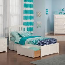 Atlantic Furniture Richmond White Twin Xl Platform Bed With Storage ...