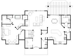 log home plans with open floor plan kits