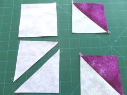 Diamond Ring Quilt Pattern - Ludlow Quilt and Sew & Make half square triangle units Adamdwight.com