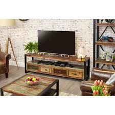 industrial reclaimed furniture. Cancun Industrial Reclaimed Wood 4 Drawer TV Stand Furniture