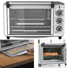 6 slice convection countertop toaster oven silver to3000g black decker brand new