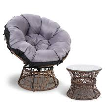 Light Pink Papasan Chair Gardeon Papasan Chair And Side Table Brown