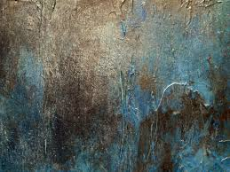 large metal wall art abstract painting by holly anderson artist oxidized painting 30x40x40 in