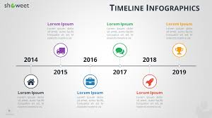 Timeline Slide Template Timeline Infographics Free Presentation Template
