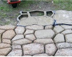pavement mold for making pathways your garden concrete molds paving patio ornament moulds australia