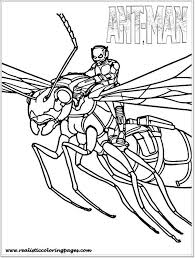 Small Picture Printable Ant Man Coloring Pages For Toddler Realistic Coloring