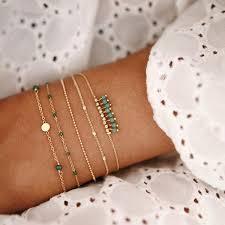 Buy <b>5 Pieces Women's Fashion</b> Bracelets Beads Decor Trendy ...