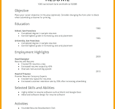 Example Of Basic Resumes Basic Resumes Examples Mazard Info