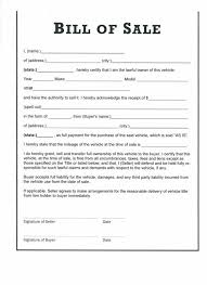 free bill of sale form for car free auto bill of sale printable template motor download blank