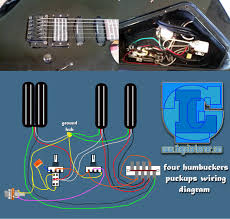 four humbuckers pickup wiring diagram hotrails and quadrail four humbuckers pickup wiring diagram hotrails and quadrail on quad rail wiring diagram