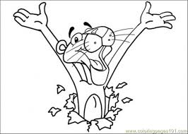 Small Picture Here Comes Pink Panther Coloring Page Free The Pink Panther