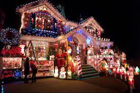 Each holiday season brings with it sprawling light displays on homes such  as this residence in