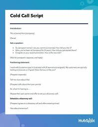 Sales Calls Template The Best Cold Call Script Ever Template