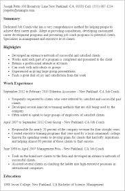 Job Coach Job Description Resume