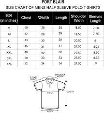 Blair Com Size Chart Port Blair Cotton Rich Solid Color Slim Fit Short Sleeve Golf Polo T Shirts For Men