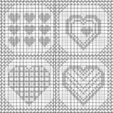 Filet Crochet Heart Squares Pattern By Katrin Beumer Ravelry