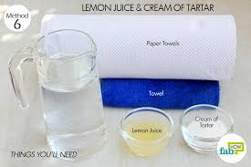 lemon juice bleaching and deep cleaning agent 1 part