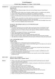 Call Center Skills Resume Call Center Specialist Resume Samples Velvet Jobs 45