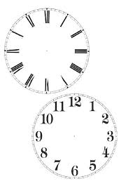 Printable Clock Template Charleskalajian Com