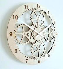 kikkerland clock gear wall wooden kits fashion gears promotional clocks big nickel white alarm wood cube kikkerland clock gear desk by flip instructions