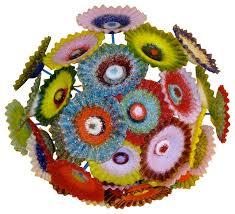 blown glass chandelier multi color chandelier flower light chandelier