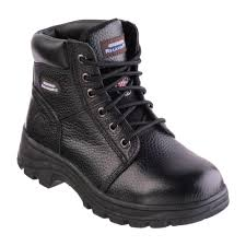 workshire peril women size 7 black leather steel toe work boot