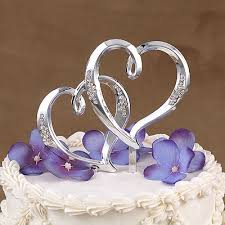 silver wedding cake toppers. beautiful heart wedding cake toppers for romantic look silver l