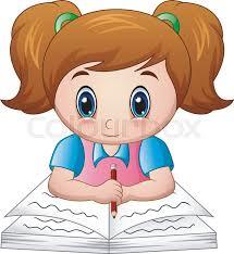 vector ilration of cartoon reading a book stock vector colourbox