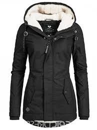 ericdress slim mid length zipper pocket jacket more burlington coat factory