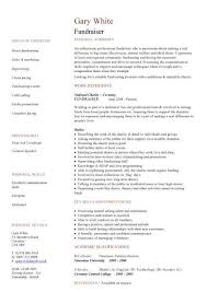 fundraiser CV sample, good persuasive, interpersonal, IT, organisational  and administrative skills