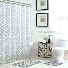 grey shower curtains geometric in x bath rug and striped curtain gray white red gre