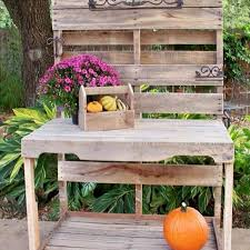 outdoor furniture pallets. Wooden Pallet Potting Bench Outdoor Furniture Pallets