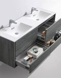 modern bathroom double sinks. De Lusso 60\ Modern Bathroom Double Sinks