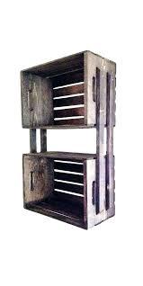 rustic hanging shelves brown wooden crate wall shelving unit floating diy hangin