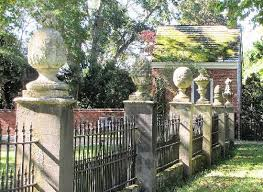 fence meaning. Westover Plantation: Fence In Rear Of Home With Specific Meaning To The Finials