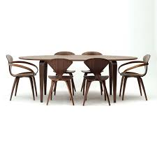 cherner furniture. Classic Walnut With Cherner Side Chairs And Oval Table Furniture