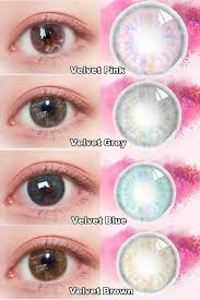 Sps Hair Colour Chart New Sweet Candy Collection Velvet Series Colored Contacts Is