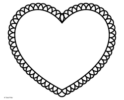 Candies in the shape of a heart. Best Free Heart Coloring Pages Heart Activity Book