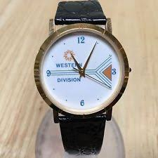 mens western watches in wristwatches vintage western division men 18k gold plated analog quartz watch hour~new batter
