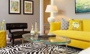 Yellow Sofa A Sunshine Piece For Your Living Room Simple Yellow Living Rooms Interior