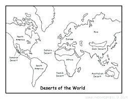 World Map Coloring Page Maps Pages Download Pirate Treasure