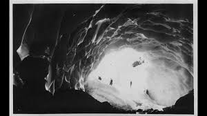 historic photo of mountaineers in a glacier cave paradise glacier mt rainier from the collection of gerald w williams former national historian for