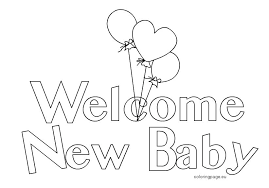 baby shower coloring pages baby shower coloring pages new boy for girls 9137