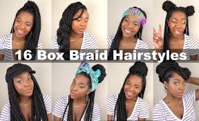 Quick Hairstyles For Braids 16 Box Braid Hairstyles Quick Easy Natural Hair Youtube