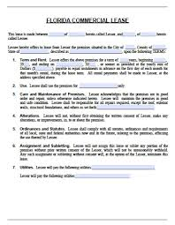 Simple Commercial Lease Agreement Simple Commercial Lease Agreement New Screenshoot Florida Short Form 9