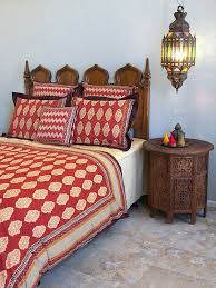 e route red orange moroccan indian duvet cover