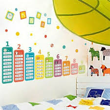 multiplication table math wall stickers